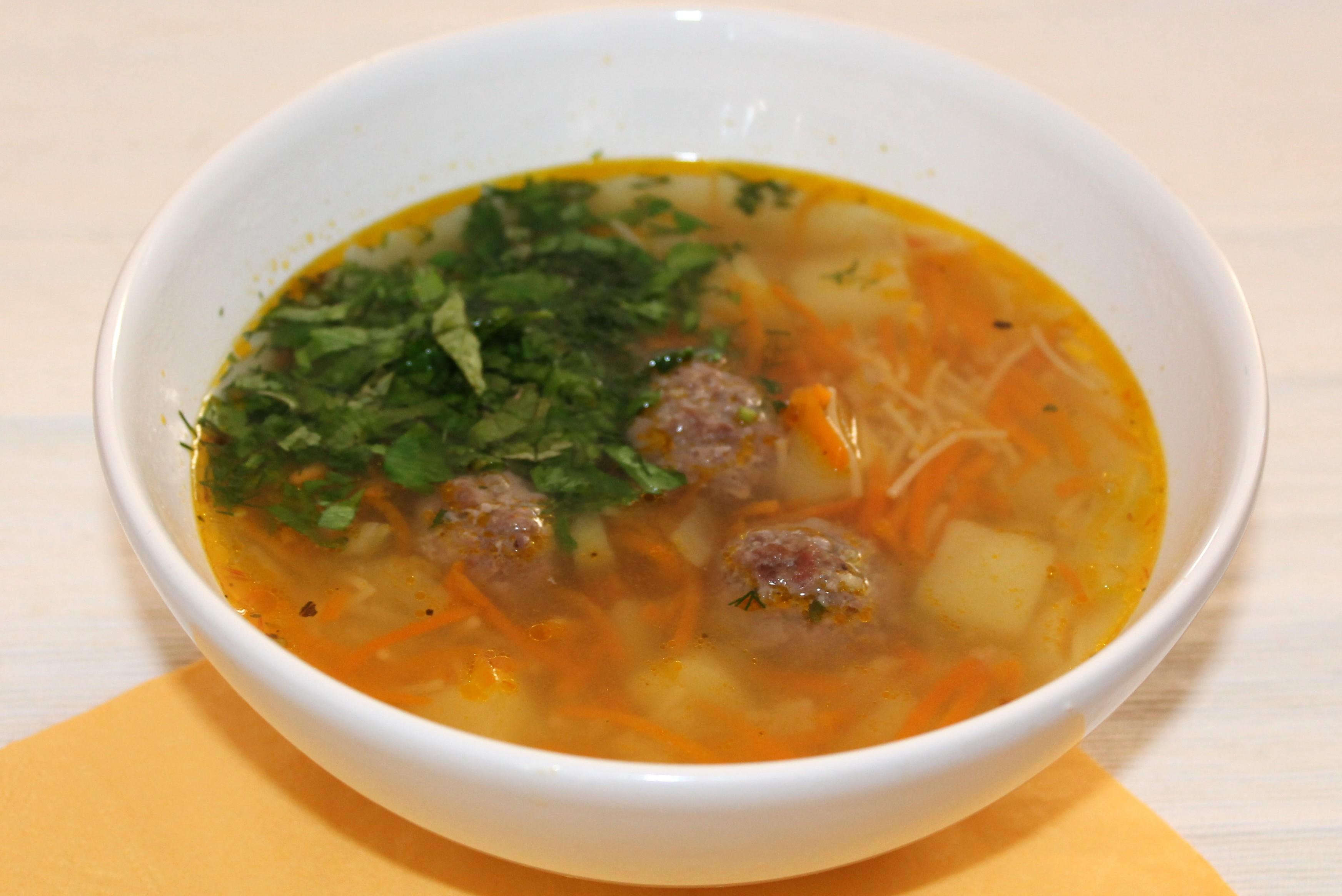 Диетический суп с фрикадельками рецепты с фото