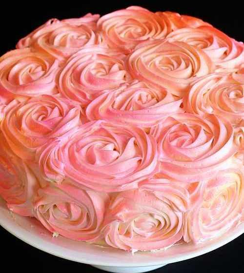 Как покрыть торт розами