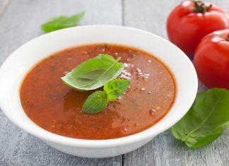 суп из свежих помидор и цуккини